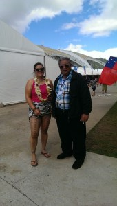 With dad after receiving my malu, and malu ceremony in Samoa. August 2014